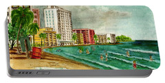 Isla Verde Beach San Juan Puerto Rico Portable Battery Charger