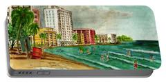 Isla Verde Beach San Juan Puerto Rico Portable Battery Charger by Frank Hunter
