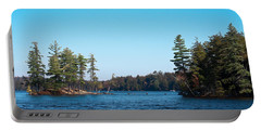 Island On The Fulton Chain Of Lakes Portable Battery Charger