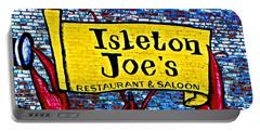 Isleton  Joe's Logo Portable Battery Charger