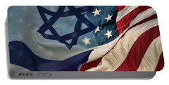 Israeli American Flags Portable Battery Charger