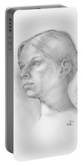 Portable Battery Charger featuring the drawing Issabell by Paul Davenport
