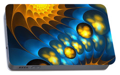 Portable Battery Charger featuring the digital art It Is Time by Anastasiya Malakhova