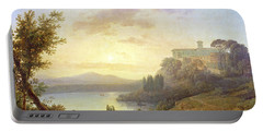 Italian Landscape, Setting Sun Portable Battery Charger