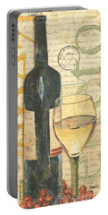 Italian Wine And Grapes 1 Portable Battery Charger by Debbie DeWitt