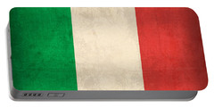 Italy Flag Vintage Distressed Finish Portable Battery Charger
