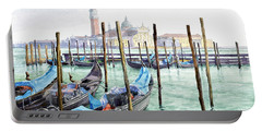 Italy Venice Gondolas Parked Portable Battery Charger