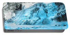 Ithaca Falls In Winter Portable Battery Charger