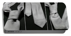 Portable Battery Charger featuring the photograph It's A Tie - Triptych by Trish Mistric