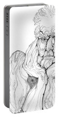 Portable Battery Charger featuring the digital art It's In The Grain by Carol Jacobs