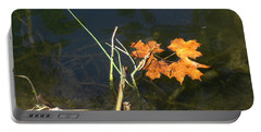 It's Over - Leafs On Pond Portable Battery Charger