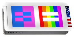 It's Time - Equal Rights For All By Sharon Cummings Portable Battery Charger