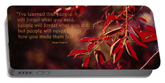 I've Learned - Maya Angelou Portable Battery Charger