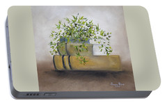 Portable Battery Charger featuring the painting Ivy League by Judith Rhue