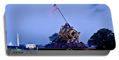 Iwo Jima Memorial At Dusk Portable Battery Charger