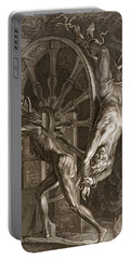 Ixion In Tartarus On The Wheel, 1731 Portable Battery Charger