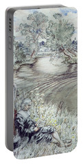 Izaak Walton Reclining Against A Fence Portable Battery Charger