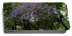 Jacaranda In The Park Portable Battery Charger