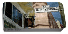 Jack Kerouac Alley And Vesuvio Pub Portable Battery Charger by RicardMN Photography