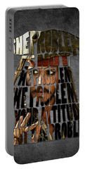 Jack Sparrow Quote Portrait Typography Artwork Portable Battery Charger by Georgeta Blanaru