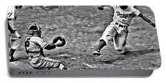 Jackie Robinson Stealing Home Portable Battery Charger