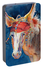Jack Burro -  Donkey Portable Battery Charger by Deb  Harclerode