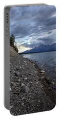 Jackson Lake Shore With Grand Tetons Portable Battery Charger by Belinda Greb