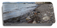 Jackson Lake With Boats Portable Battery Charger by Belinda Greb