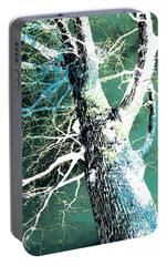 Portable Battery Charger featuring the photograph Jade Forest by Shawna Rowe