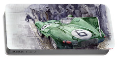Jaguar D-type  1955 Le Mans  Portable Battery Charger