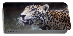 Jaguar Sticking Out Tongue Portable Battery Charger