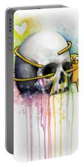 Jake The Dog Hugging Skull Adventure Time Art Portable Battery Charger