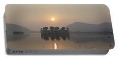 Jal Mahal In Sunrise Portable Battery Charger