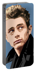 James Dean In Color Portable Battery Charger
