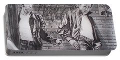 James Dean Meets The Fonz Portable Battery Charger by Sean Connolly