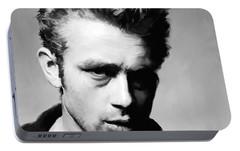 James Dean - Portrait Portable Battery Charger by Paul Tagliamonte