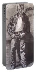 James Dean Portable Battery Charger by Sean Connolly