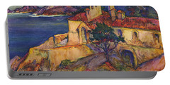James House Carmel Highlands California By Rowena Meeks Abdy 1887-1945  Portable Battery Charger by California Views Mr Pat Hathaway Archives