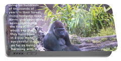 Jane Goodall Gorilla Portable Battery Charger by Barbara Snyder