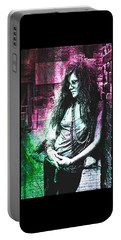 Janis Joplin - Pink Portable Battery Charger