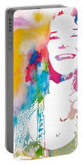 Janis Joplin Watercolor Portable Battery Charger
