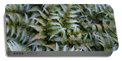 Portable Battery Charger featuring the photograph Japanese Ferns by Kathryn Meyer