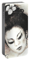 Japanese Girl. Portable Battery Charger by Francine Heykoop