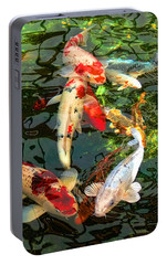 Japanese Koi Fish Pond Portable Battery Charger by Jennie Marie Schell