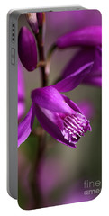 Portable Battery Charger featuring the photograph Japanese Orchid by Joy Watson