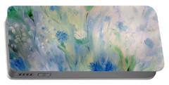 Jardin Bleu Portable Battery Charger by Julie Brugh Riffey