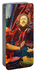 Portable Battery Charger featuring the painting Jason Hann At Horning's Hideout by Joshua Morton