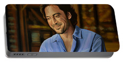 Javier Bardem Painting Portable Battery Charger by Paul Meijering