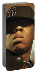 Jay-z Artwork Portable Battery Charger by Sheraz A
