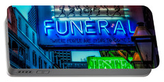 Jazz Funeral And Jester On Bourbon St. Portable Battery Charger